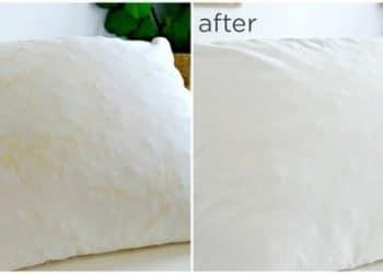 Làm sạch gối ngủ dễ dàng