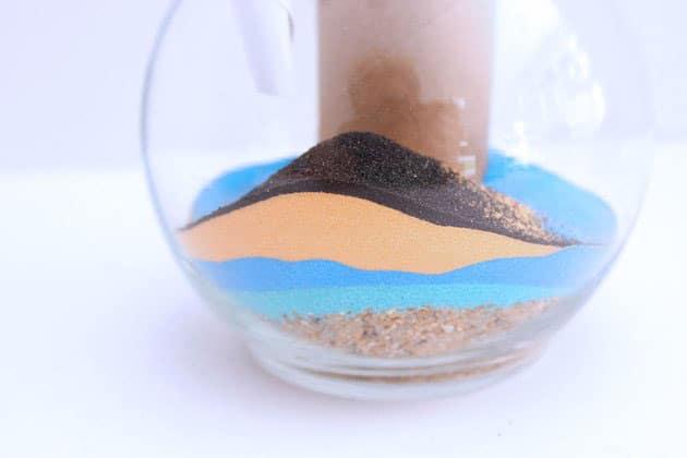 Sử dụng phễu để điều hướng cát