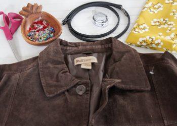 Tự làm túi đeo chéo từ áo khoác cũ